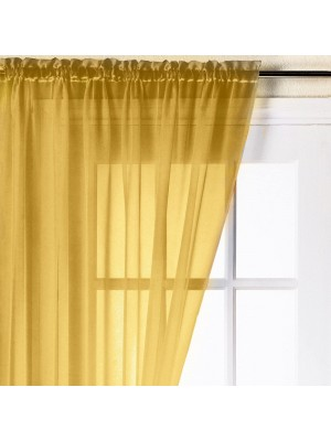 Trent Plain Voile Panel OCHRE