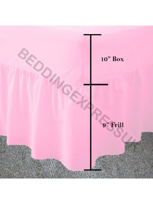 Easy care poly/cotton VALANCE Sheet PINK
