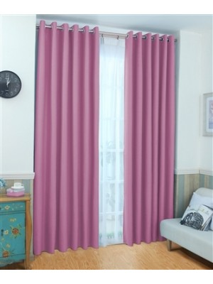 Thermal Plain Blackout Curtains PINK