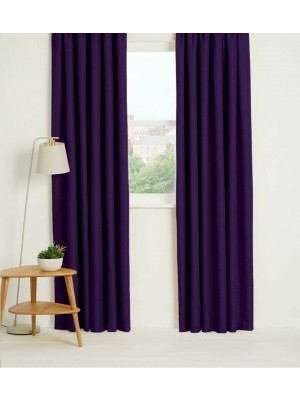 Thermal Plain Blackout Curtains PLUM