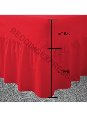 Easy care poly/cotton VALANCE Sheet RED