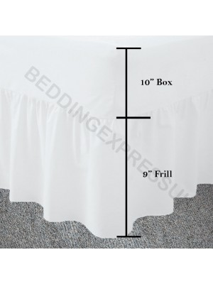 Easy care poly/cotton VALANCE Sheet WHITE