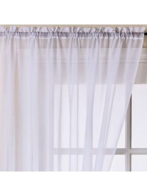Trent Plain Voile Panel WHITE